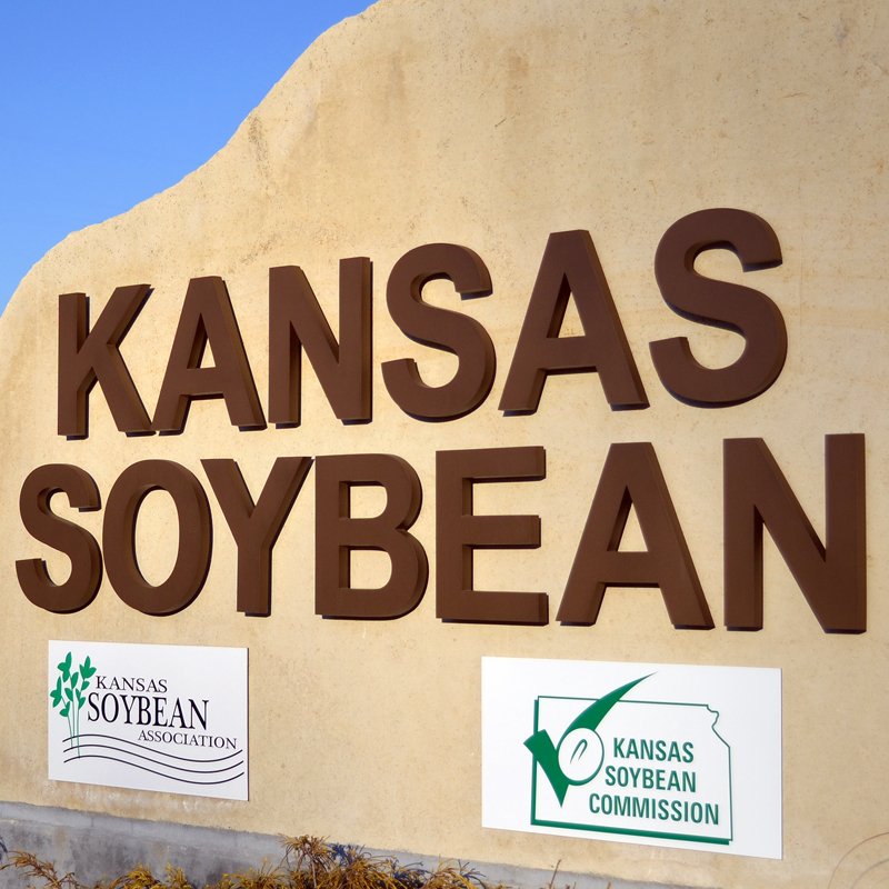 Kansas Soybean sign