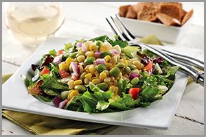 Edamame Corn Salad on Lettuce