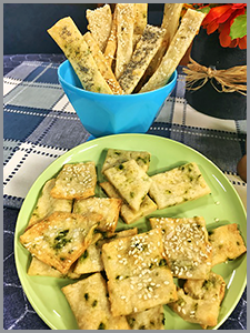 Parmesan & Herb Flatbread Crackers